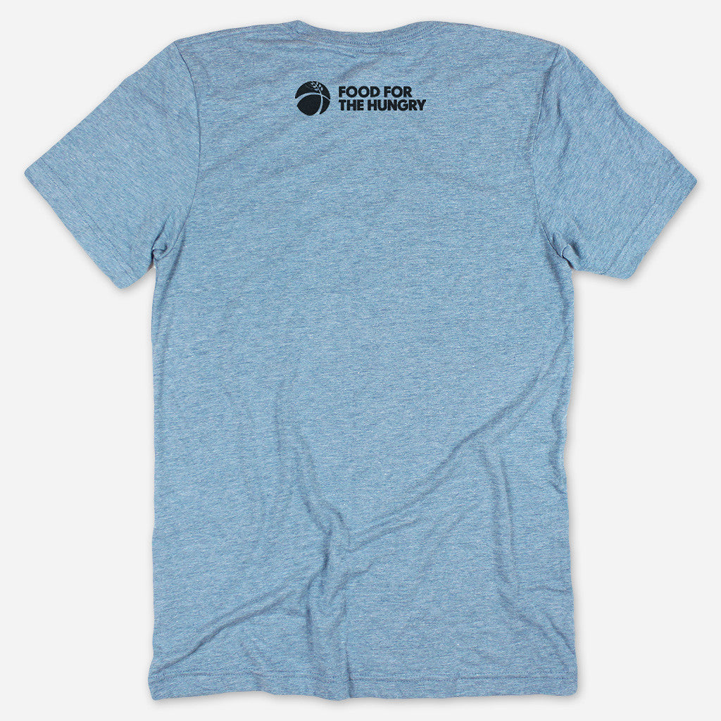 Give. Share. Grow. Denim Tri-Blend - Food For The Hungry - Hello Merch