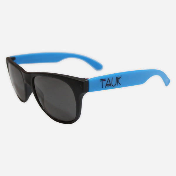 Logo Neon Blue Sunglasses by TAUK for sale on hellomerch.com