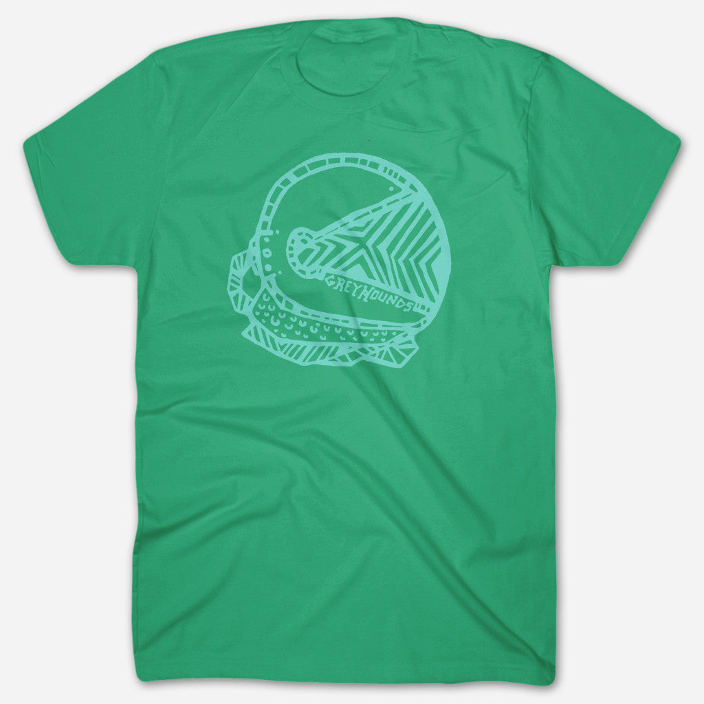 Space Helmet Kelly Green T-Shirt - Greyhounds - Hello Merch
