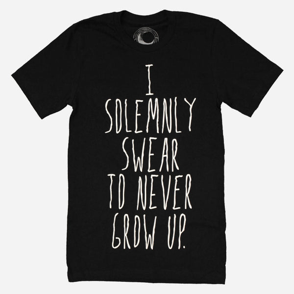 I Solemnly Swear Traditional Black Tee by Half Moon Kids for sale on hellomerch.com