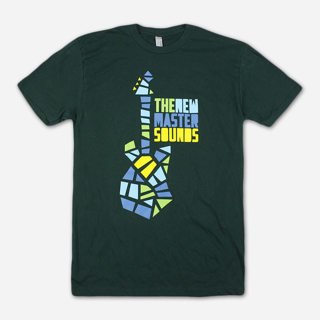 Guitar Forest Green T-Shirt - The New Mastersounds - Hello Merch
