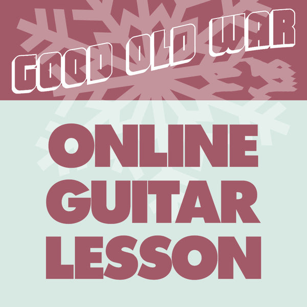 Online Guitar Lessons with GOW by Good Old War for sale on hellomerch.com