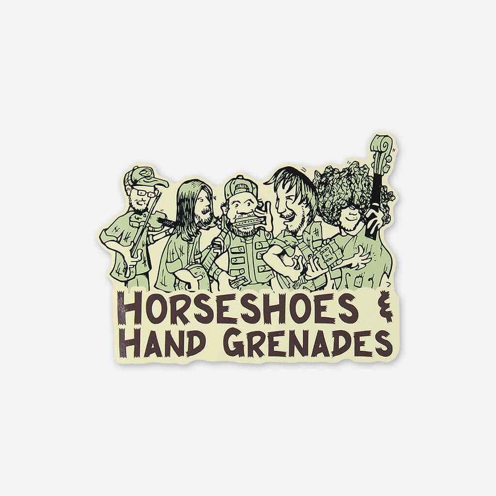 Cartoon Sticker - Horseshoes and Hand Grenades - Hello Merch