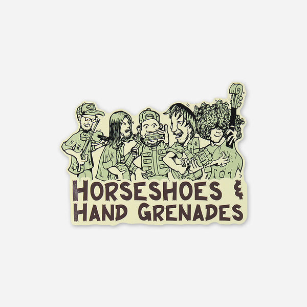 Cartoon Sticker by Horseshoes and Hand Grenades for sale on hellomerch.com