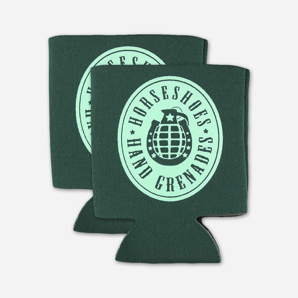 Logo Koozie 2-Pack - Horseshoes and Hand Grenades - Hello Merch