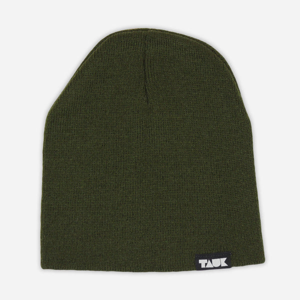 Headroom Logo Olive Acrylic Beanie by TAUK for sale on hellomerch.com