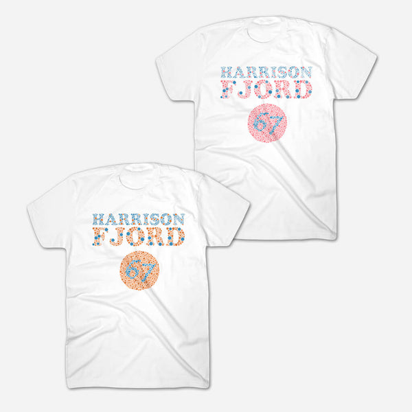 Color Blind White T-Shirt by Harrison Fjord for sale on hellomerch.com