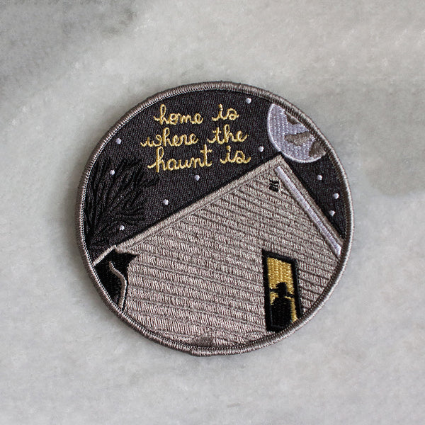 Home Is Where The Haunt Is Iron-On Patch by American Football for sale on hellomerch.com