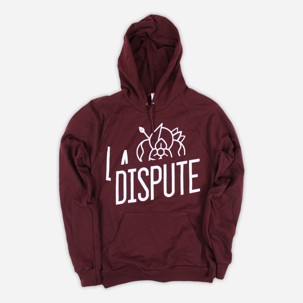 Half Flower Logo Truffle Pullover Hood - La Dispute - Hello Merch