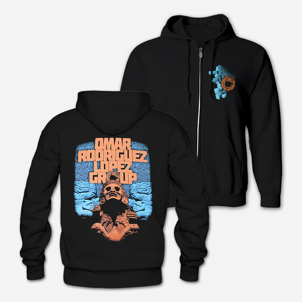 ORLG - Black Hooded Zip Sweatshirt by Omar Rodriguez Lopez for sale on hellomerch.com
