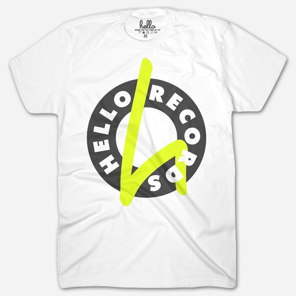 Hello Records (Adult) T-Shirt by Hello Records for sale on hellomerch.com