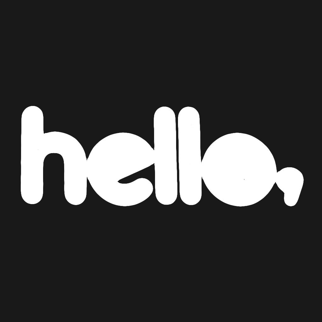 Hello Logo Black T-Shirt