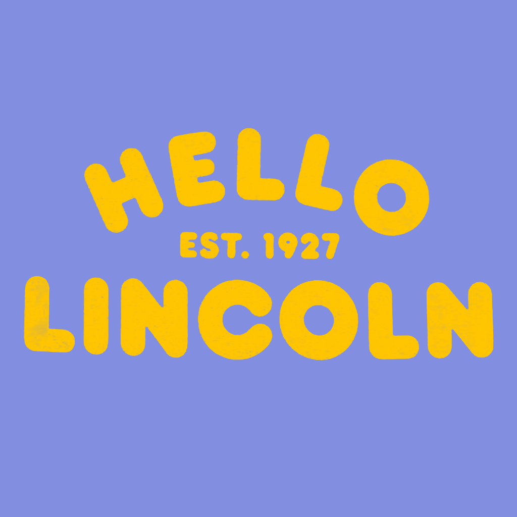 Hello Lincoln Periwinkle T-Shirt