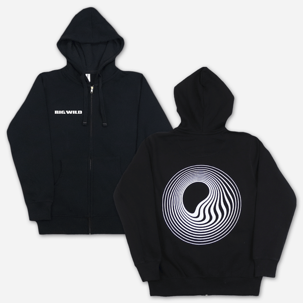 Ecofriendly Icon Black Zip Hoodie by Big Wild for sale on hellomerch.com