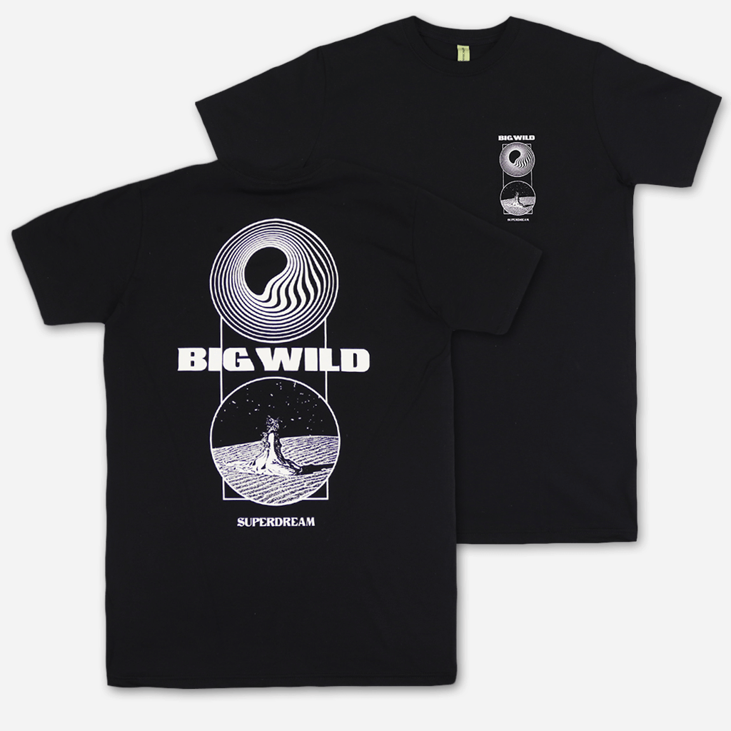 Two Worlds Black T-Shirt