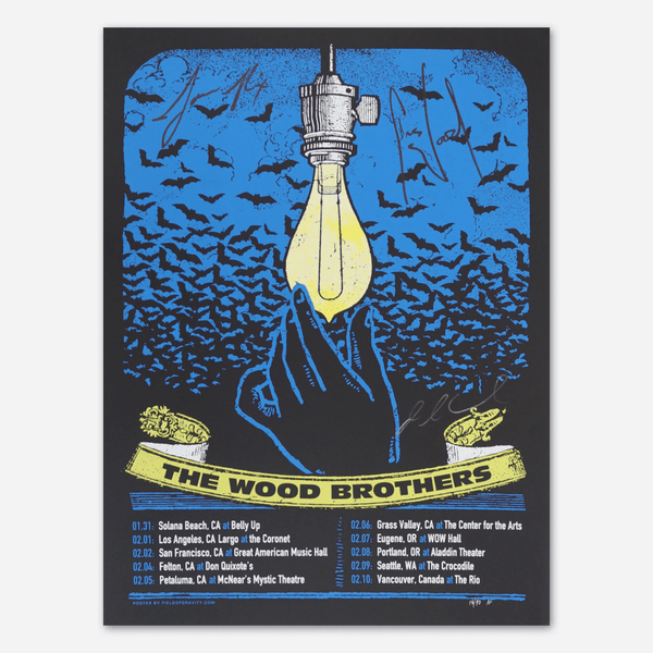 Jan-Feb Tour Signed Poster by The Wood Brothers for sale on hellomerch.com