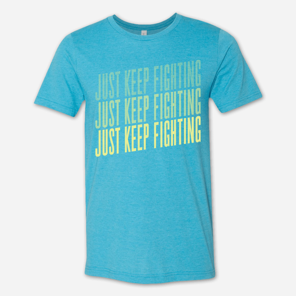 Fighting Tee (Aqua/Daffodil) by Buffering the Vampire Slayer for sale on hellomerch.com