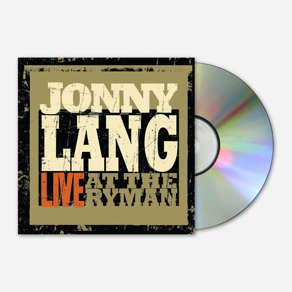 Live At The Ryman CD by Jonny Lang for sale on hellomerch.com