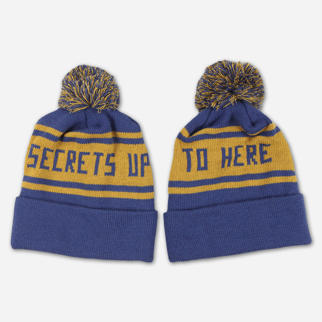 Secrets Up To Here Knit Hat With Pom