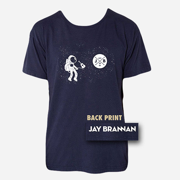 Astronaut Navy T-Shirt by Jay Brannan for sale on hellomerch.com
