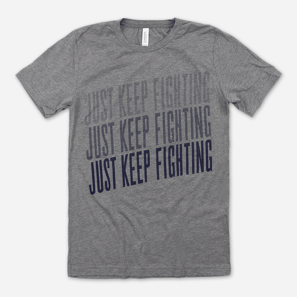 Fighting Tee (Grey/Navy) by Buffering the Vampire Slayer for sale on hellomerch.com