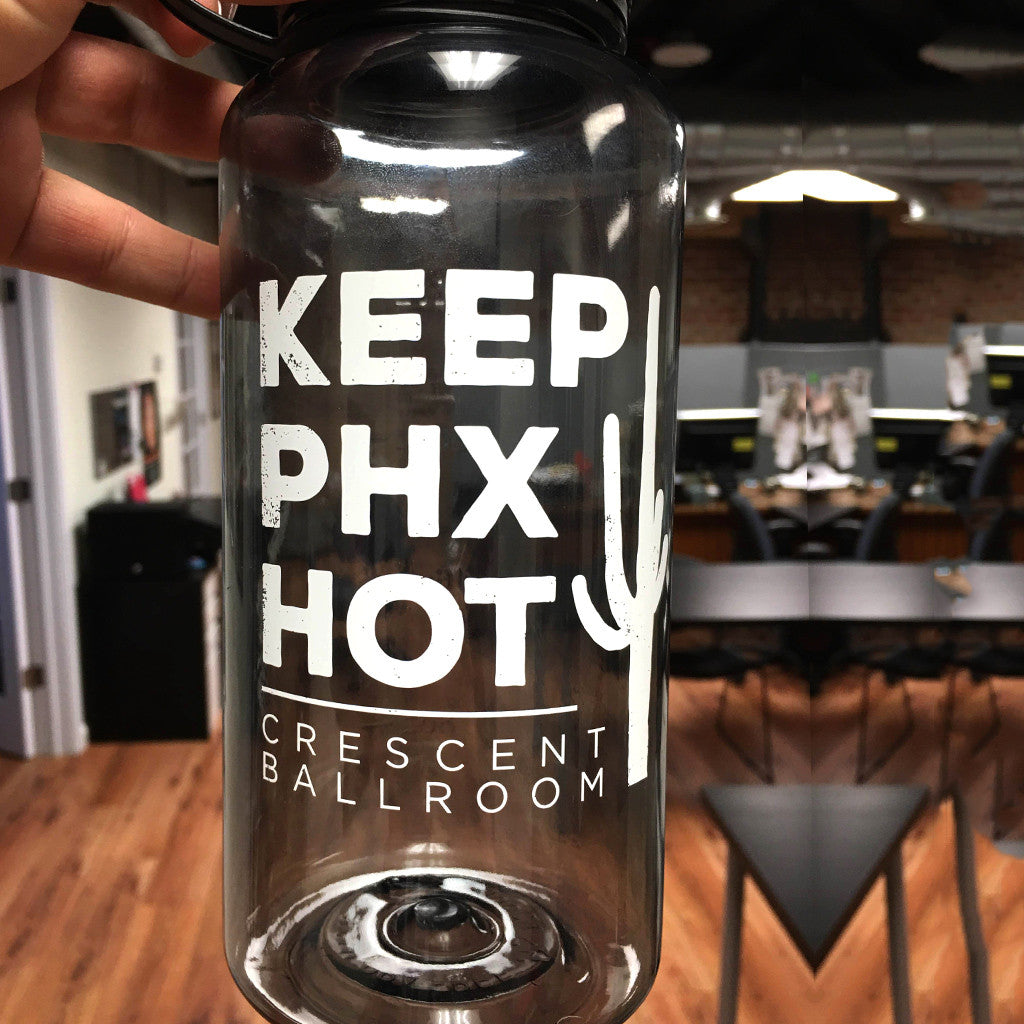 Keep Phoenix Hot - Water Bottle - Crescent Ballroom - Hello Merch