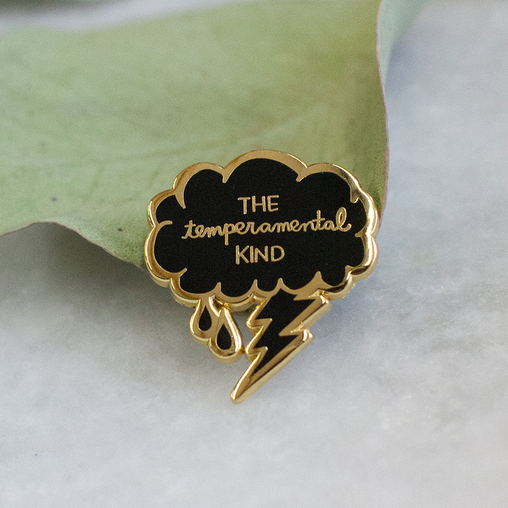 The Temperamental Kind Lapel Pin - American Football - Hello Merch