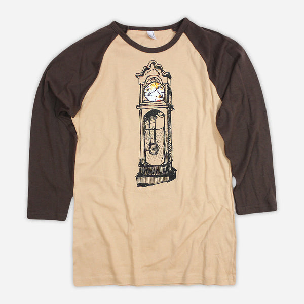 Kaleidoscope Machine Women's Brown Long Sleeve Raglan by Katie Costello for sale on hellomerch.com