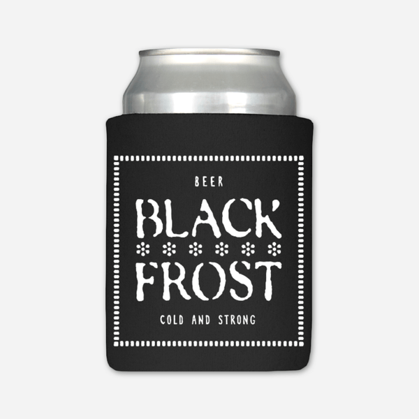 Black Frost Beer Koozie by Buffering the Vampire Slayer for sale on hellomerch.com