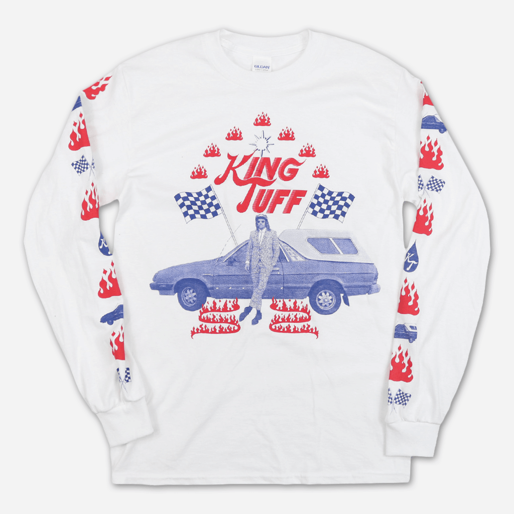 Blue '82 White Long Sleeve T-Shirt