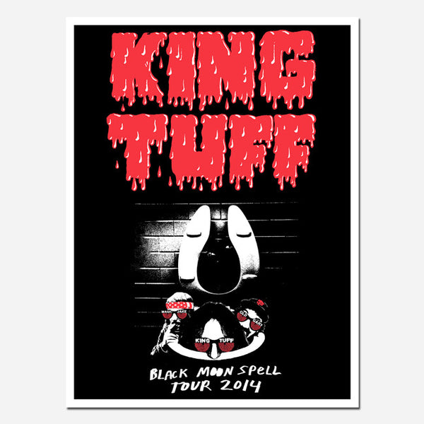 Limited Edition 2014 Black Moon Spell Screen Print Poster by King Tuff for sale on hellomerch.com