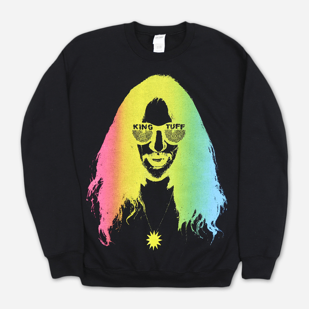 Rainbow Face Black Pullover Sweatshirt
