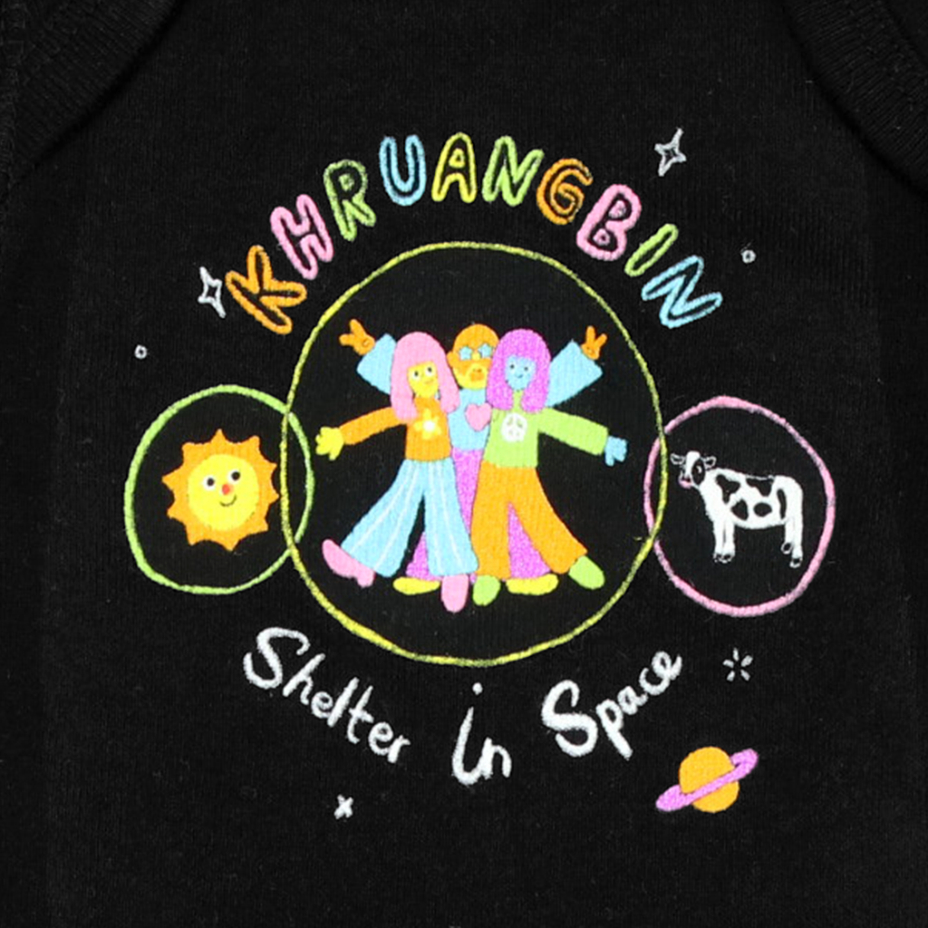 Shelter in Space Babies Black One-Piece