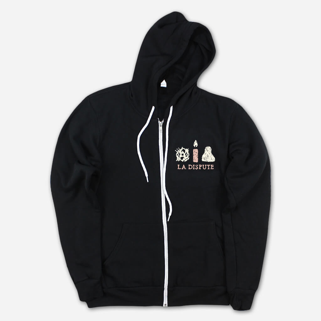 Vigil Black Zip Hoodie - La Dispute - Hello Merch