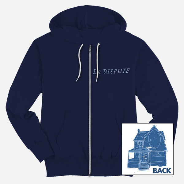 Neighbor Navy Zip Hood by La Dispute for sale on hellomerch.com
