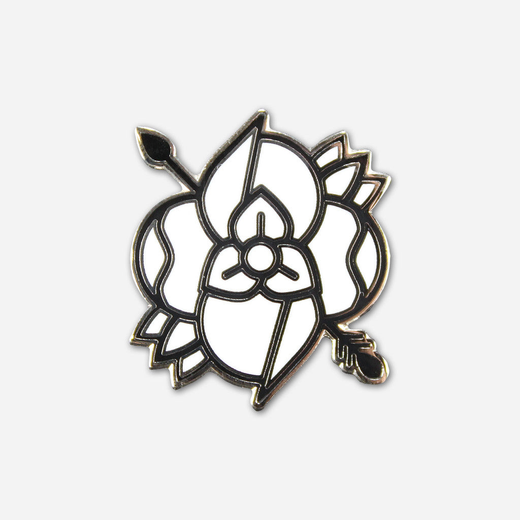 Flower Arrow Lapel Pin