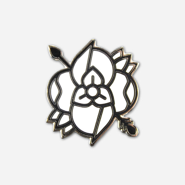 Flower Arrow Lapel Pin by La Dispute for sale on hellomerch.com