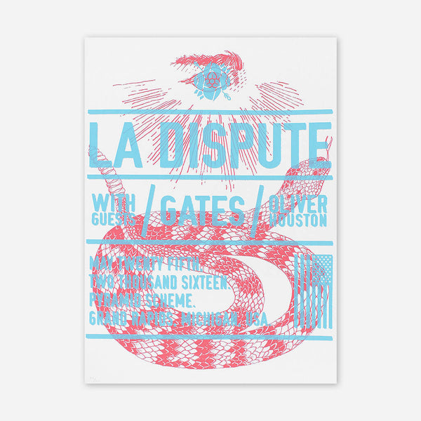 Limited Edition Posters by La Dispute for sale on hellomerch.com