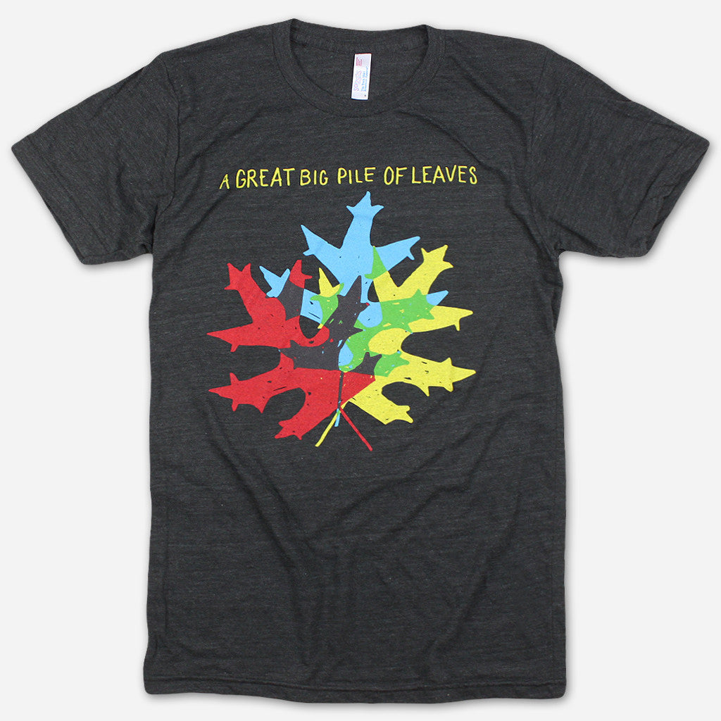 Leaf Logo Black Tri-Blend - A Great Big Pile of Leaves - Hello Merch