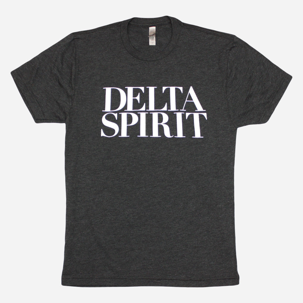 Delta Spirit Logo Black Tri-Blend - Delta Spirit - Hello Merch