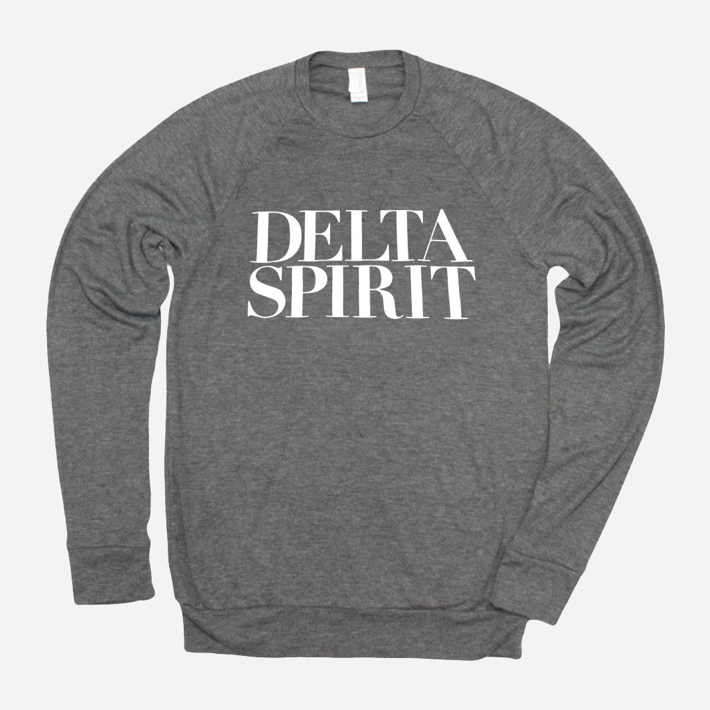 Delta Spirit Logo Heather Grey Poly-Cotton Long Sleeve - Delta Spirit - Hello Merch