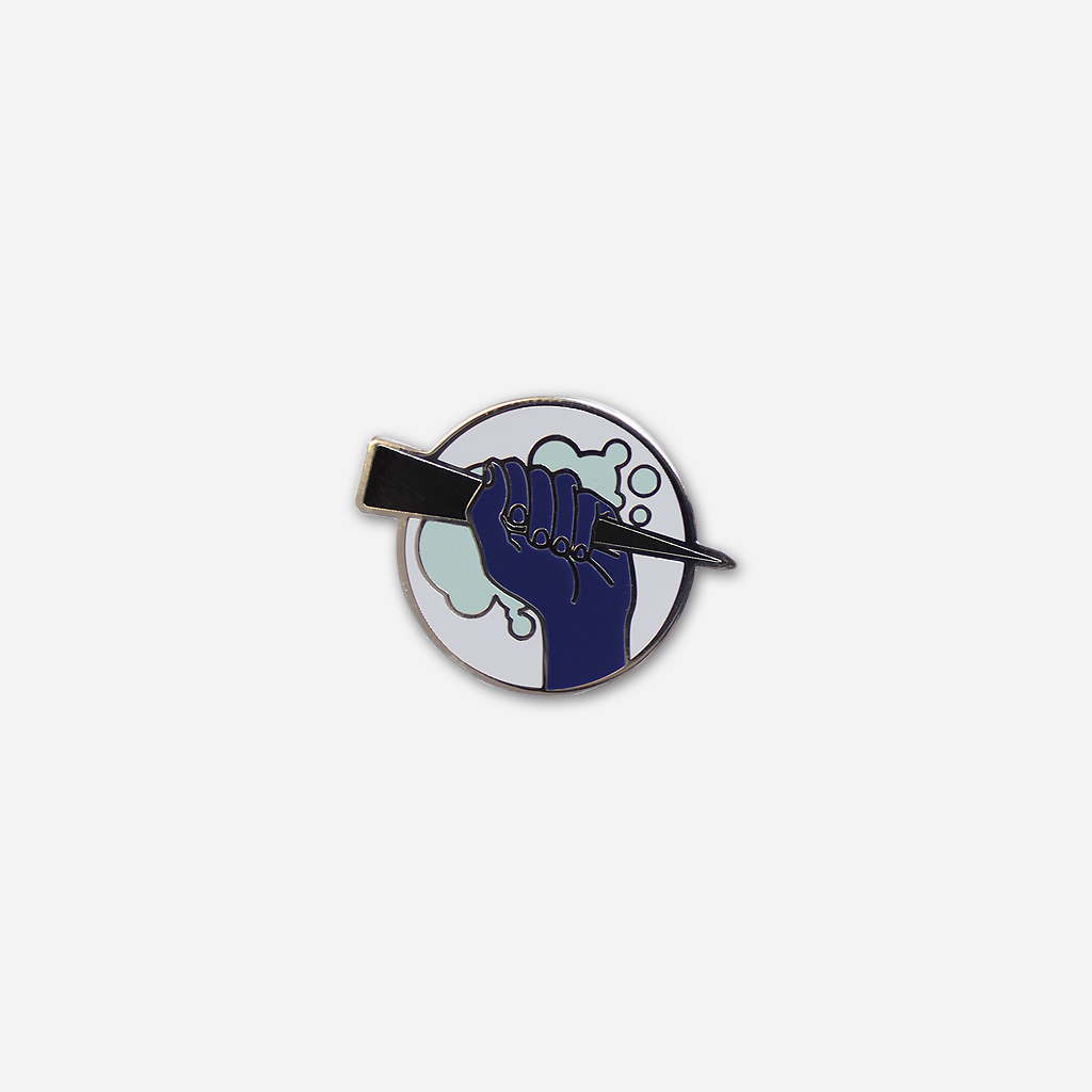 Buffering Enamel Pin
