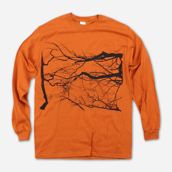 Branches Orange Long Sleeve T-Shirt by Billy Martin for sale on hellomerch.com