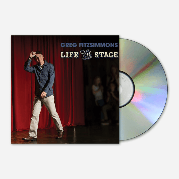 Life On Stage DVD & CD by Greg Fitzsimmons for sale on hellomerch.com