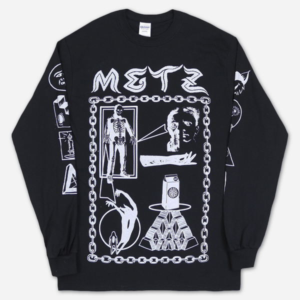 Louis Colab Black Long Sleeve T-Shirt by Metz for sale on hellomerch.com