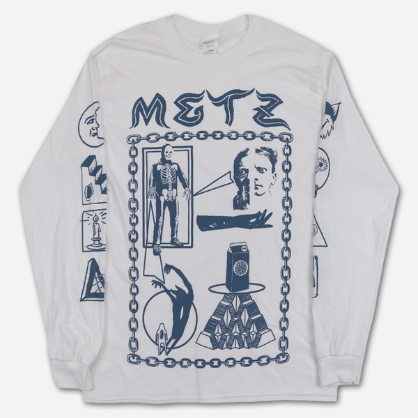 Louis Colab White Long Sleeve T-Shirt by Metz for sale on hellomerch.com
