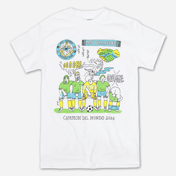 cdd21b68a Football Club White T-Shirt by Mac DeMarco for sale on hellomerch.com