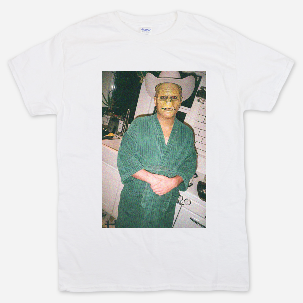 Lizard Man Robe White T-Shirt