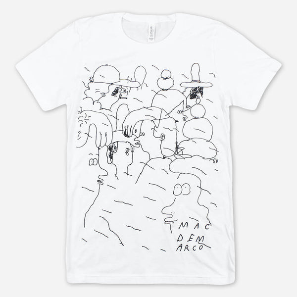 People Doodle White T-Shirt by Mac DeMarco for sale on hellomerch.com