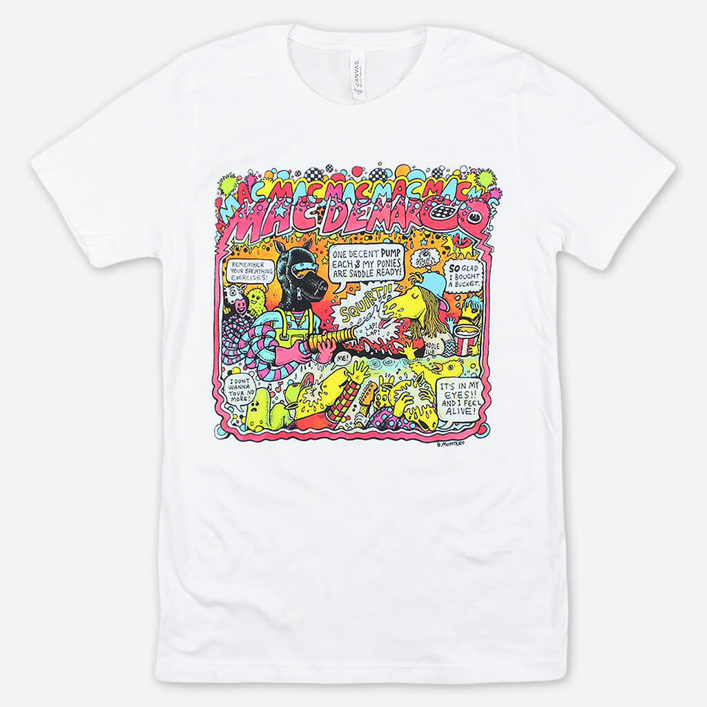 Montero Ponies White T-Shirt - Mac DeMarco - Hello Merch